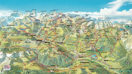 Wanderplan Silvretta Montafon